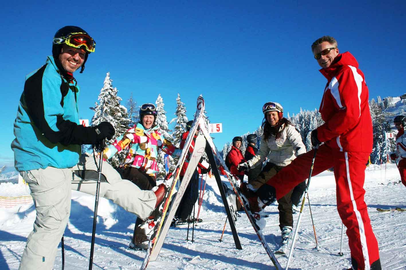 Schifahren lernen , Wanderhotel Erika
